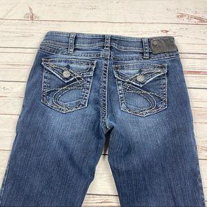 Women's Silver Size 30 Suki Surplus Boot Cut Jeans